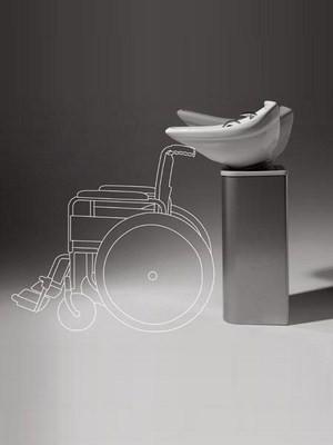 Waschsäule Colonna Rollstuhl
