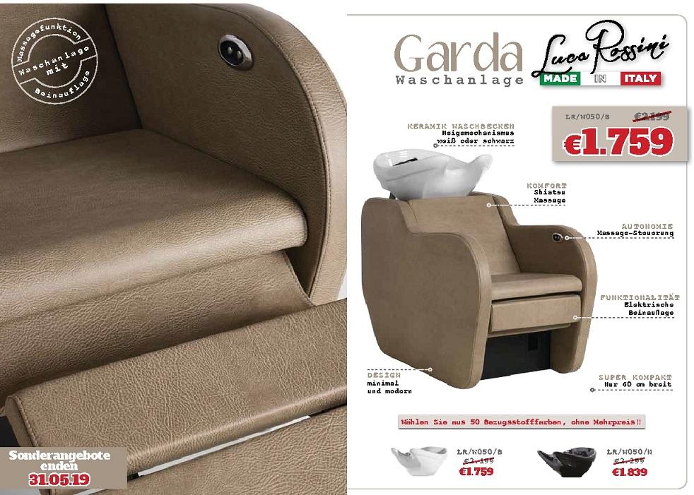 Garda - absoluter Preishammer der neue Waschsessel von Luca Rossini - Made in Italy