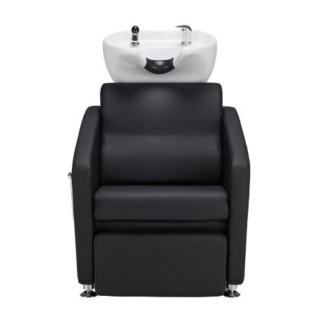 Waschsessel Komfort Max mit manueller Beinstütze